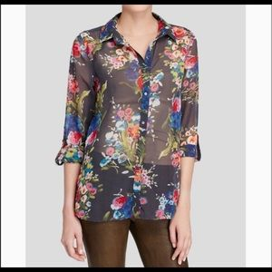 Kut from the Kloth | Sheer Floral Blouse